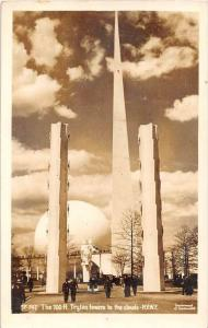 11947  NY World's Fair 1935  The 700ft. Trylon towers to the clouds Real...