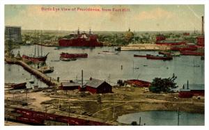 Rhode Island  Aerial view of Providence  from Fort Hill