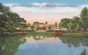 Reflection Pool, Botanic Garden, Rock Springs Park, Fort Worth, Texas,  30-40s