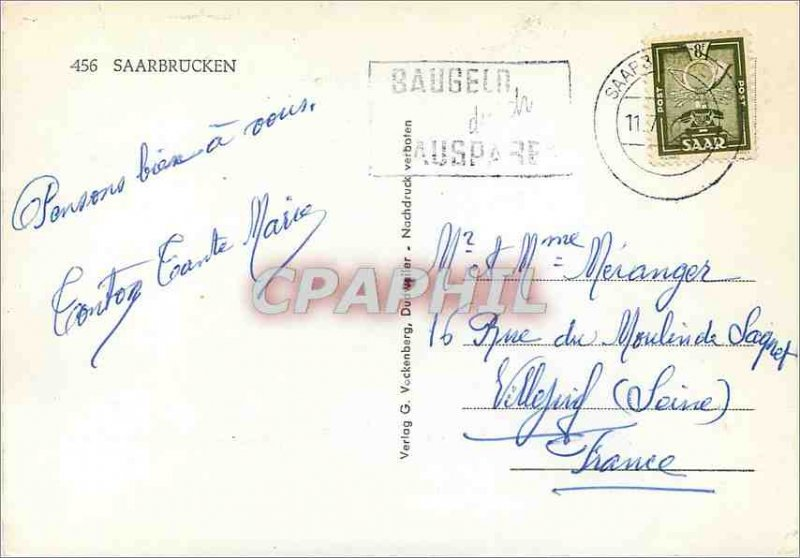 Postcard Modern Saarbrucken