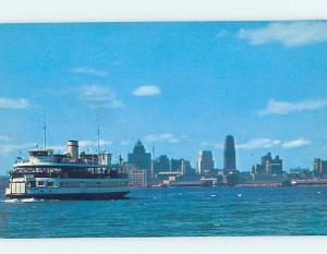 Unused Pre-1980 ISLAND FERRY BOAT BY THE SKYLINE Toronto Ontario ON F8247-12