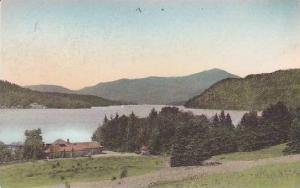 New York Lake Placid Placid Lake & Whiteface Mountain Handcolored Albertype