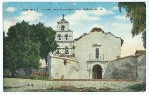 Fra Junipero Serra Mission San dieg De Alcala CA Postcard Kropp Hopkins VPC1.