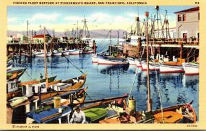 California San Francisco Fisherman's Wharf Fishing Fleet