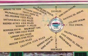 Mileage To All Parts Of The World From Gardiner's Corner Nantucket Massachuse...