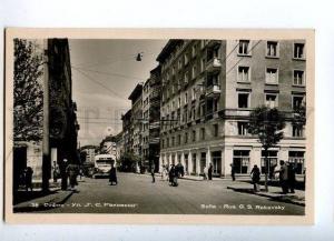 131666 BULGARIA SOFIA Rakovsky street Vintage photo postcard