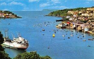 Vintage Cornwall Postcard, Fowey from Hall Walk GO8