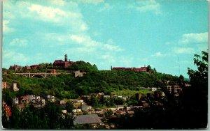 Cincinnati, Ohio Postcard Mt. Adams Bird's-Eye Panorama View Chrome 1950s Unused