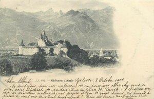 Suisse Chateau d`Aigle corespondence Golisse - Sentier 1900 timbre cote rare