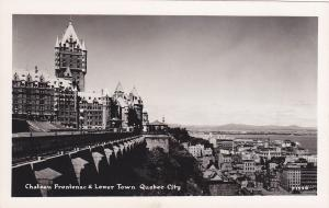 RP: Chateau Frontenac & Lower Town , Quebec, Canada , 1930-40s