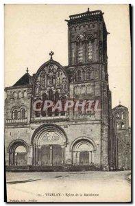 Postcard Old Church De La Madeleine Vezelay