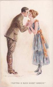 Archie Gunn Soldier With Girl Saying Goodbye