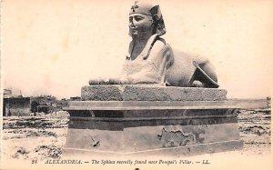 Sphinx recetly found near Pompei's Pillar Alexandria Egypt, Egypte, Africa Un...