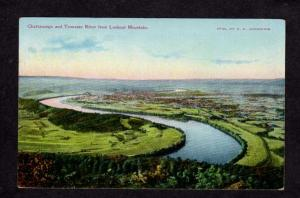 TN View Chattanooga & Tennesse River From Lookout Mtn Mountain Postcard PC