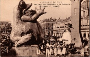 CARNAVAL DE NICE FRANCE - FROG - RPPC  - VINTAGE - ART - POSTCARD