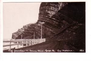 Cliff Formations on Perron Blvd, Gaspe, Cap Morine, Quebec, Real Photo