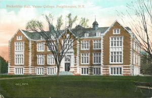 Poughkeepsie NY~Trees in Bloom~Vassar College~Rockefeller Hall~1910