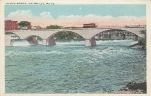 WATERVILLE , Maine , 1910s; Trolley on Ticonic Bridge