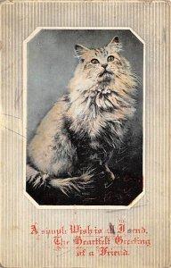 Simple Wish Cat 1915 Missing Stamp