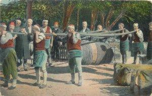 Turkey Person carrying burdens slaves Ottoman Empire Postcard