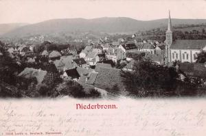 Niederbronn France panoramic birds eye view of area antique pc Z17888