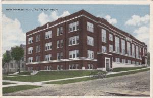 [SOLD] PETOSKEY, Michigan, PU-1917; New High School