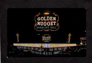 NV Golden Nugget Gambling Casino Resort Hall Las Vegas Nevada Postcard Saloon