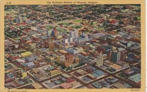 Arizona Phoenx Aerial View Of Business Section Curteich