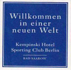 GERMANY BERLIN KEMPINSKI HOTEL VINTAGE LUGGAGE LABEL