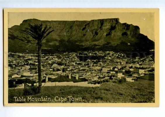 172152 SOUTH AFRICA CAPE TOWN Table mountain Vintage postcard