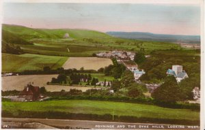 Sussex Postcard - Poynings and The Dyke Hills - Looking West - RP - Ref 50A