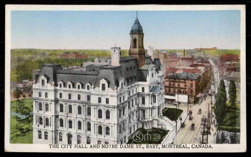 The City Hall and Notre Dame St., East, Montreal, Canada