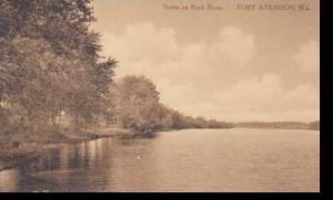 Wisconsin Delton Scene On Rock River Albertype