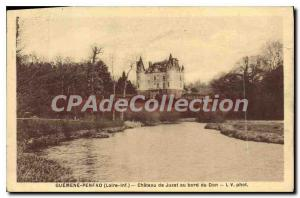 Postcard Old Guemene Penfao Loire Chateau Inf Juzet beside the Don