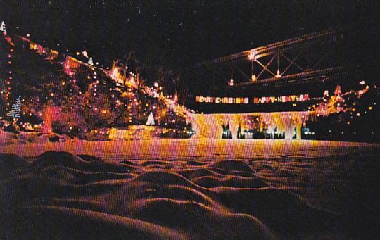 Annual Christmas Lighting At Ludlow Falls Ohio - Annual Christmas Lighting At Ludlow Falls Ohio / HipPostcard