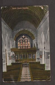 Interior View Of The Parish Church, Paignton - Used 1909 Lot Of Wear