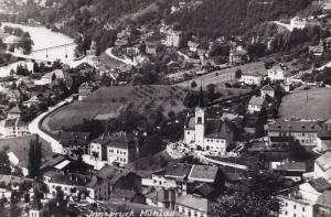 Innsbruck Muhlau Real Photo Aerial Austria 1950s Postcard