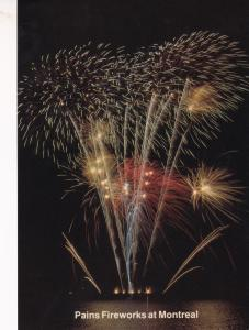 Pains Fireworks Display at Montreal Canada Limited Edition Postcard