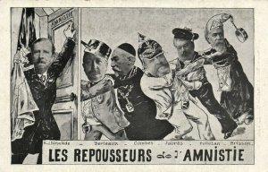 PC CPA FREEMASONRY, LES REPOUSSEURS DE L'AMNISTIE, Vintage Postcard (b14698)