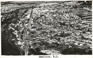 new zealand, HAMILTON, Aerial Real Photo (1950s)