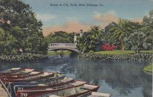 Louisiana New Orleans Scene In City Park Curteich