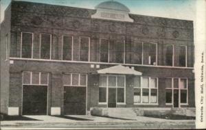 Oelwein IA City Hall Fire Station c1910 Postcard