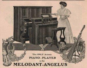 1907 Original Print Ad Piano-Player Heinz 57 Improved Tins 2P1-6 e et