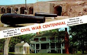 South Carolina Charleston Fort Sumter Civil War Centennial