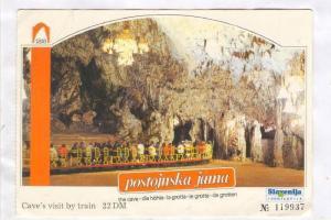 Postojinska jana, cave tours, Slovenia , 50-70s