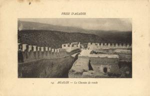 CPA Maroc Agadir Le Chemin (23133)