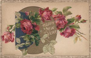 WINCH ; New Year , Rose booklet Postcard , 00-10s