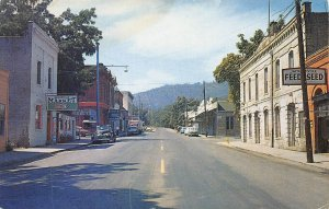 Street Scene Cars Jacksonville Oregon 1950s postcard