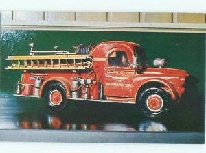 1970's This Is A Postcard ANTIQUE TOY FIRE TRUCK ON POSTCARD AC7476