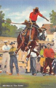 Cowboys Milt Moe on Tea Trader 1943 Missing Stamp